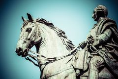 The monument of Charles III on Puerta del Sol in Madrid, Spain Stock Images