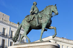 The monument of Charles III on Puerta del Sol Royalty Free Stock Photos