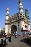 Monument Charminar, i Hyderabad, Indien Arkivfoton