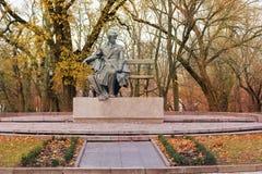monument Chernihiv Ukrainsk poet Taras Shevchenko arkivfoto
