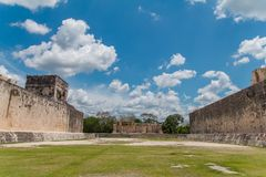 Monument of Chichen Itza pyramid Mexico Yucatan. Ring Mayan ball game in the ancient city of Uxmal Stock Photo