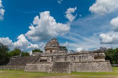 Monument of Chichen Itza snake pyramid Mexico Yucatan stock image