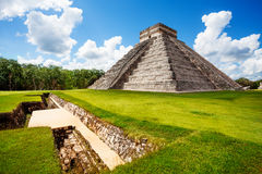 Monument of Chichen Itza during summer in Mexico Royalty Free Stock Photo