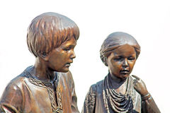 Monument of children part of memorial monument to T.Shevchenko Stock Images