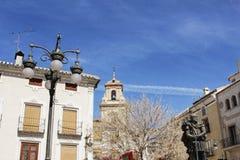 Monument chrétien de soldat en place de Caravaca de la Cruz, Murcie images libres de droits
