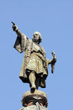 Monument of Christopher Columbus, Barcelona Royalty Free Stock Images