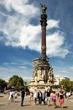 Monument of Christopher Columbus, Barcelona Stock Images