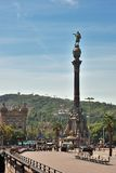 Monument of Christopher Columbus, Barcelona Royalty Free Stock Image