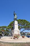 Monument for Christopher Columbus (1914) in Rapallo, Italy Stock Photos