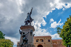 Monument of Christopher Columbus. In Sant-Domingo main square Royalty Free Stock Image