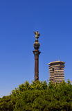 The monument of Christopher Columbus. Monument to Christopher Columbus in Barcelona, Spain stock photography