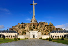 Valle de Los Caidos, Spain. The monument, church and abbey of the Santa Cruz del Valle de Los Caidos, also known as the Valley of the  Fallen. The cross is the Royalty Free Stock Photography