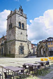 Monument and Church of Nossa Senhora da Oliveira. In the centre of Guimares (Oliveira square Royalty Free Stock Photo