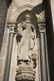 Monument of Church of St. Ludmila at namesti miru or Peace Square Royalty Free Stock Photo