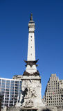 Monument Circle in Indianapolis Indiana Stock Photo