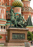 Monument citizen Minin and Prince Pozharsky Royalty Free Stock Photo