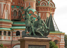 Monument citizen Minin and Prince Pozharsky Stock Images