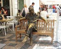 Monument city hobo in Prague. PRAGUE, CZECH REPUBLIC - JUNE 19, 2016: Monument city hobo stock photos