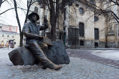 Monument in the city of Lviv. Stock Photo