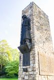 Monument in city park of Gerolstein town. GEROLSTEIN, GERMANY - JUNE 27, 2010: monument to those killed in the First World War in city park of Gerolstein Stock Photos