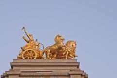 Monument ciutadella barcelona. Monument consists of rider, golden chariot and horses. Located in the Parc de la Ciutadella - Barcelona - Spain Stock Image