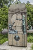 Monument From CJ Van Houten At The Groeneweg Weesp The Netherlands. 2018. Made By The Artist Toon Dupuis stock image