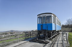 Monument of classic tramway carriage Stock Photo