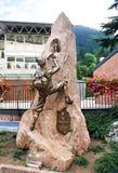 Monument climbers in Trentino, Italy Royalty Free Stock Photo