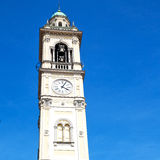 monument  clock tower in italy europe old  stone and bell Royalty Free Stock Photo