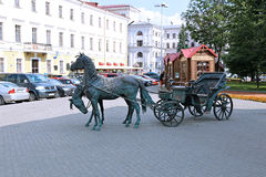 Monument coach Governor in Minsk Royalty Free Stock Image