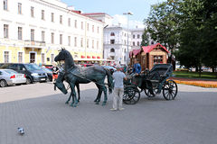 Monument coach Governor in Minsk Stock Photography
