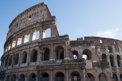 The monument of the Colosseum in Rome. Or the Flavian Amphitheatre, is the sixth Wonder of the Modern World! Millions of tourists each year visit Rome and make Royalty Free Stock Images