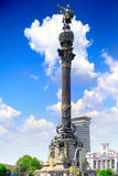 Monument of Columbus,  Barcelona. Spain Stock Photo