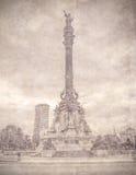 Monument of Columbus, Barcelona. Spain. Royalty Free Stock Photo