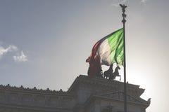 Monument commémoratif le Vittoriano ou l'autel de la patrie, dedans Image stock