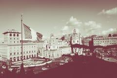 Monument commémoratif le Vittoriano ou l'autel de la patrie, dedans Photographie stock