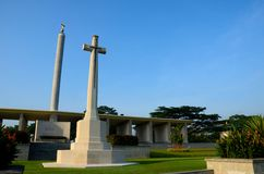 Monument commémoratif Singapour de Kranji de la Commission de tombes de guerre de Commonwealth photo stock