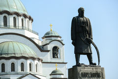 Monument commemorating Karadjordje Petrovic in front of Cathedra Royalty Free Stock Images