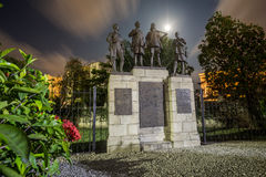 Monument commemorating victims of World War I and World War II. Stock Images