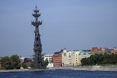 Monument In commemoration of the 300th anniversary of the Russian Navy Stock Photography