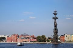 Monument In commemoration of the 300th anniversary of the Russian Navy Stock Image