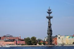 Monument In commemoration of the 300th anniversary of the Russian Navy Stock Photos