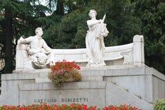 Monument of composer Gaetano Donizett Stock Image