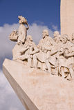 Monument of Conquistadors in Lisbon Stock Photo