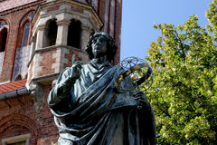 Monument of Copernicus in Torun Stock Photos