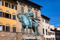 Monument of Cosimo Medici.Italy. Florence. Piazza della Signoria. Royalty Free Stock Photos