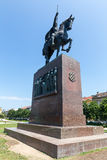 Monument of the Croatian King Tomislav in Zagreb, Croatia. Royalty Free Stock Photos