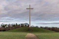 Monument croisé papal en parc de Phoenix photo stock