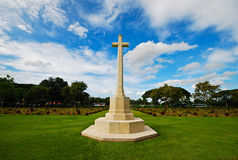 Monument of cross show peace after world war two Stock Photography
