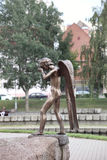 Monument of crying angel in Minsk Stock Image